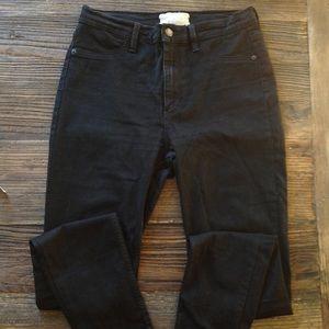 Free People | Black High Waist Stretch Skinny Jean